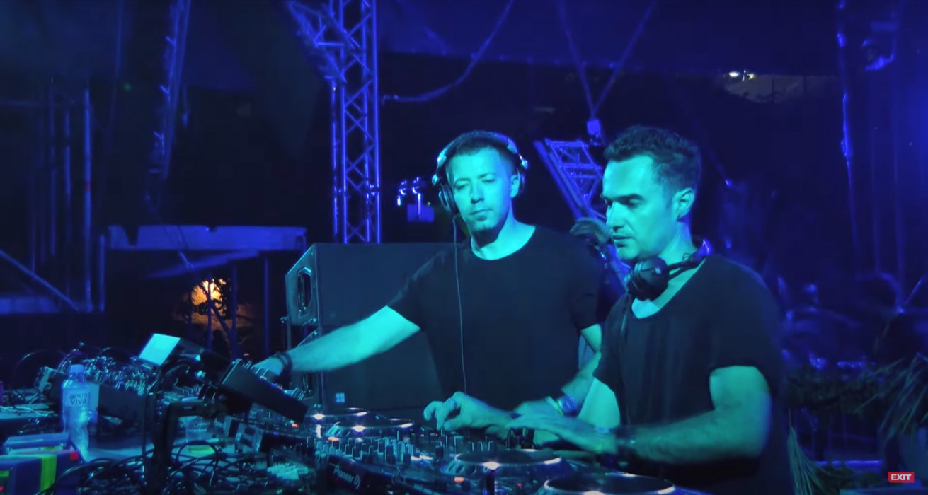 Sinisa Tamamovic b2b Mladen Tomic at the Dance Arena, Exit Festival
